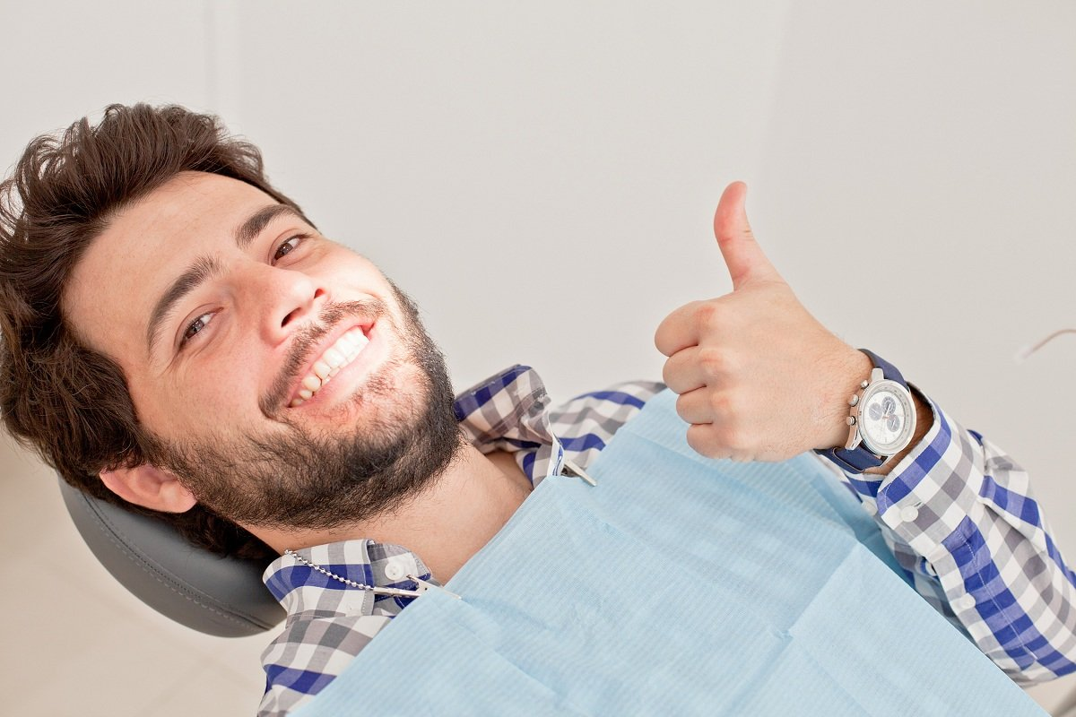 Diabetic person about to have a dental treatment