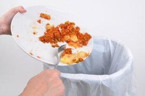 Food thrown to the bin