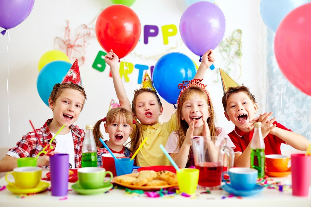 Kids having fun at a birthday party