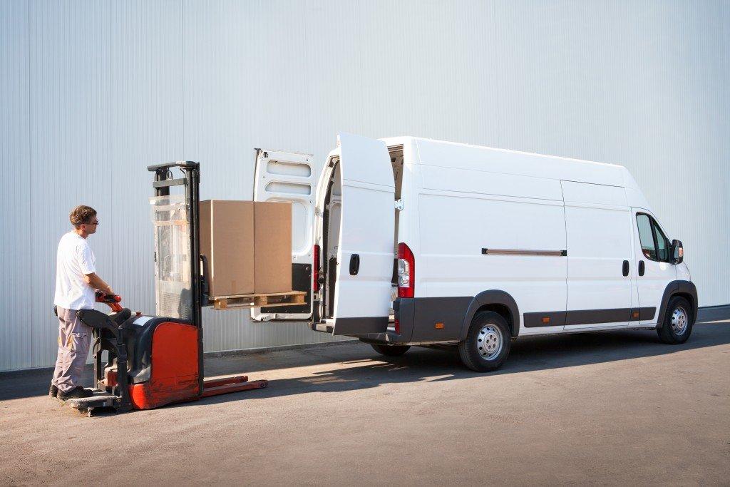 Man loading a van