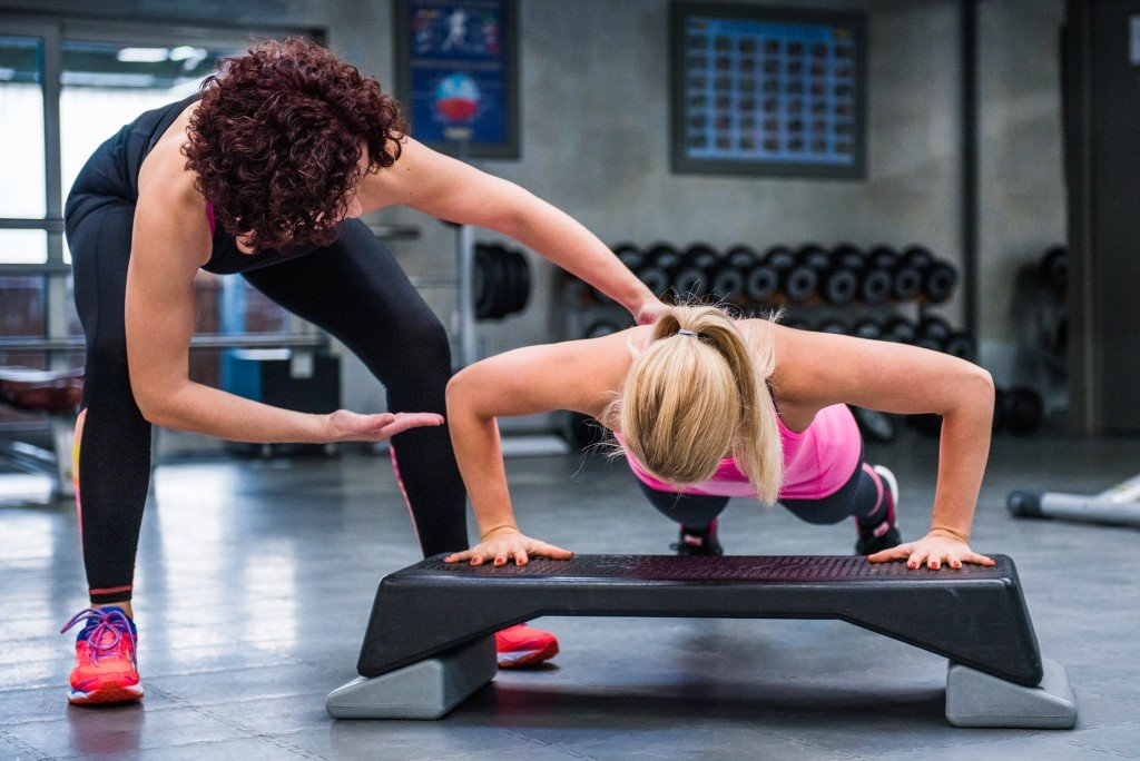 Women working out in a cool room