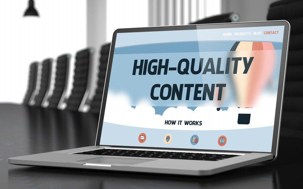 Quality content laptop