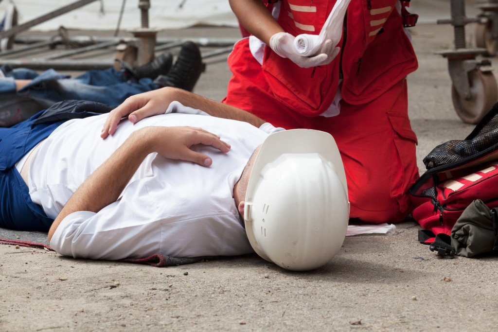 Man involved in a work accident