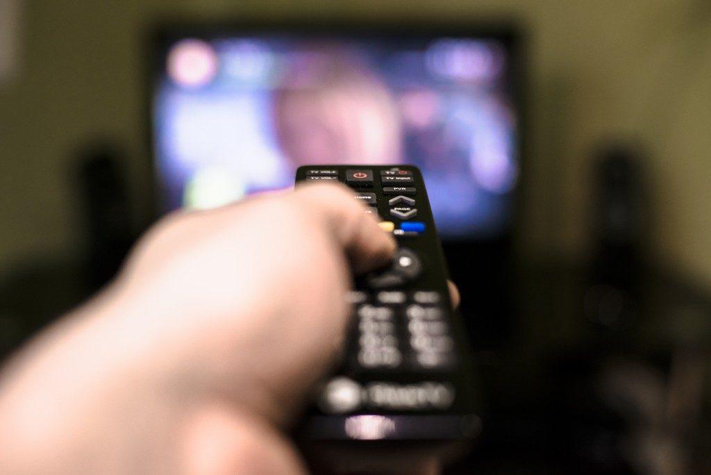 Hand remote control television screen