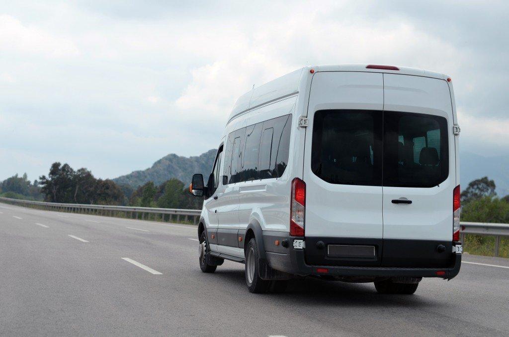 big van on the highway