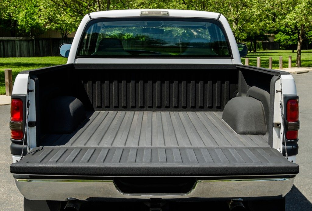 back of a pickup truck