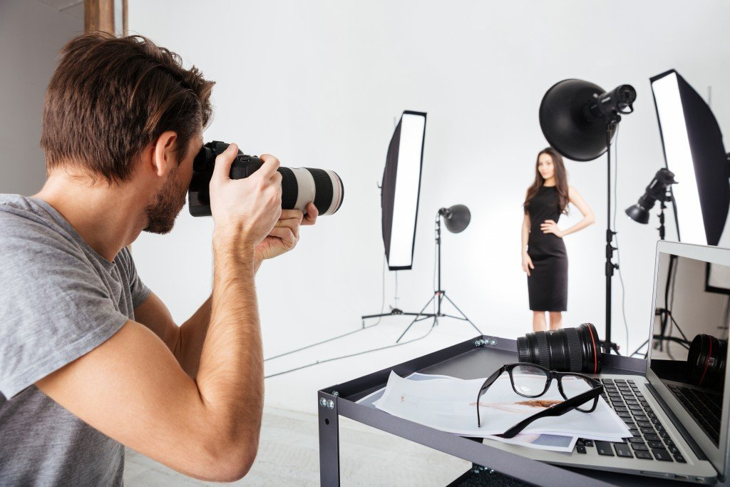 photographer during a photoshoot