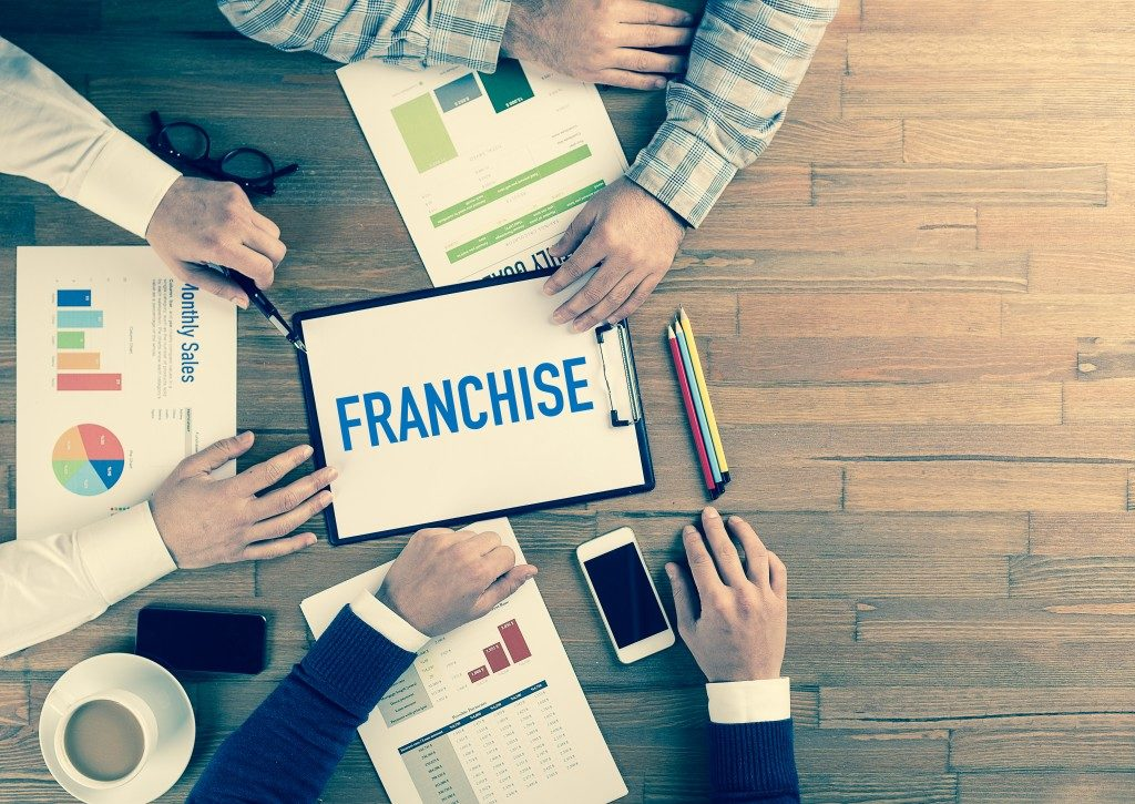 Business team concept: franchise