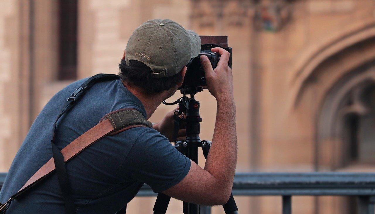 human taking photos