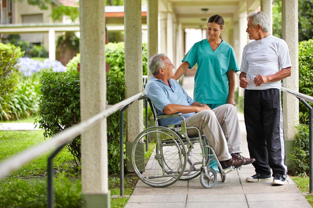 caregiver and 2 elders